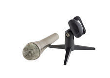 Microphone on a white background Royalty Free Stock Photo