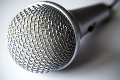 Microphone on white background Royalty Free Stock Photos