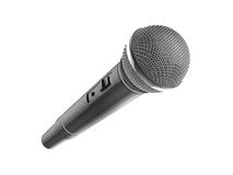 Microphone on white background Stock Photos