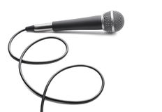 Microphone on white background Stock Images