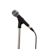 Microphone on white background. Royalty Free Stock Photo