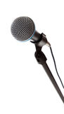 Microphone on white with copy space Stock Photos