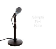 Microphone on white with copy space Royalty Free Stock Images