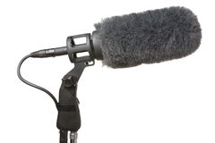Microphone and Windshield Royalty Free Stock Photography