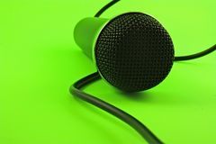 Microphone with wire Stock Image