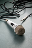 Microphone with a wire o Royalty Free Stock Images