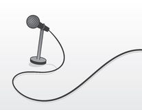 Microphone Wired Royalty Free Stock Photo