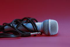 Microphone in wires Stock Image