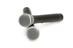 Microphones. Isolated on a white background Stock Photography