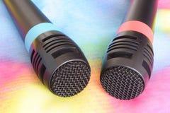 Microphones Images libres de droits