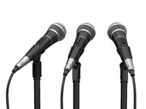 Microphones. Isolated on white background Royalty Free Stock Images