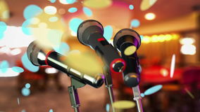 Microphones stock footage