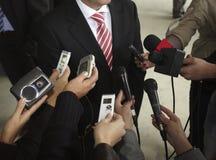 Microphones de conférence Photos libres de droits