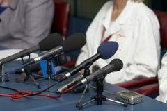 Microphones de conférence d'affaires Photos stock