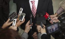 Microphones de conférence Images libres de droits
