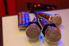 Microphones de karaoke Images libres de droits