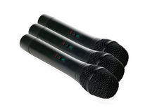 Microphones isolated on a white background Royalty Free Stock Photo