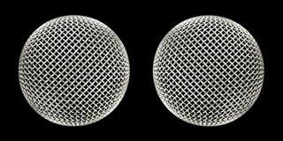 Microphones jumeaux Photographie stock