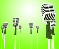 Microphones Mics Shows Musical Group Or Concert Royalty Free Stock Image