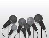 Microphones Multiple Stock Photos