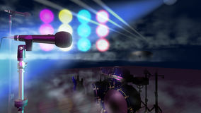 Microphones On Stage Royalty Free Stock Images