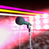 Microphones On Stage Royalty Free Stock Photo