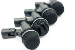 Microphones set Royalty Free Stock Images