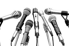Microphones. Set on a white background insulated Royalty Free Stock Photo