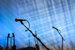 Microphones on Stage Stock Images