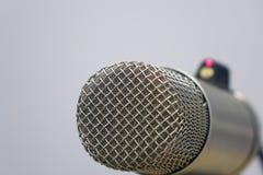 Microphones in the Studio on a light background. Radio Studio stock photo