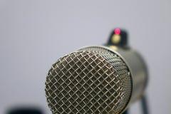Microphones in the Studio on a light background. Radio Studio stock photography