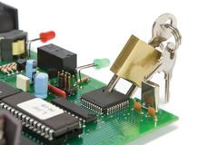 Microplaqueta da segurança Fotografia de Stock Royalty Free