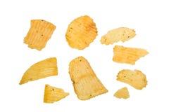 Microplaqueta de batata Fotografia de Stock