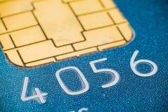 Microplaqueta de cartão de crédito micro Imagem de Stock