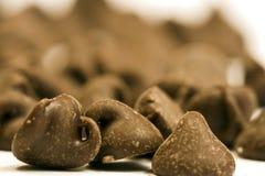 Microplaqueta de chocolate Imagem de Stock