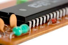 Microplaqueta de circuito eletrônico Imagem de Stock