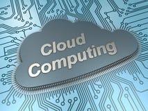 Microplaqueta de computação da nuvem ilustração stock