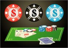 Microplaqueta de póquer grande Ilustração Stock