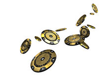 Microplaqueta de pôquer do Vip ilustração stock