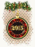 Microplaqueta de pôquer nova feliz de 2015 anos Imagens de Stock Royalty Free