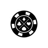 Microplaqueta de pôquer para jogos do casino Microplaquetas do casino para o jogo de pôquer Ilustração do vetor Foto de Stock