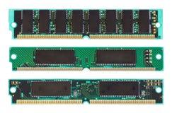 Microplaqueta de RAM no branco Imagens de Stock