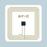 Microplaqueta de RFID Imagens de Stock