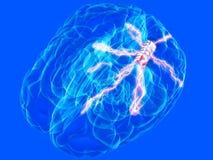 Microplaqueta do cérebro ilustração stock