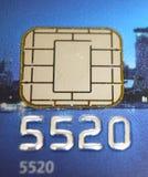 Microplaqueta do cartão de crédito imagens de stock