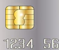 Microplaqueta do cartão de crédito ilustração stock