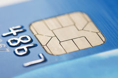 Microplaqueta do cartão de crédito fotos de stock royalty free