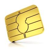 Microplaqueta do cartão de SIM ilustração stock