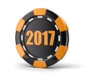 Microplaqueta do casino 2017 Fotografia de Stock