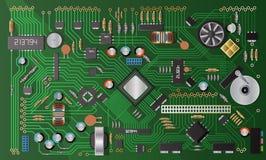 Microplaqueta do componente bonde Foto de Stock